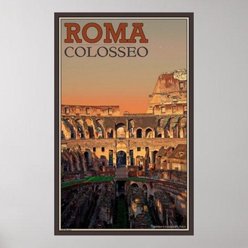 Inside the Roman Colosseum Poster