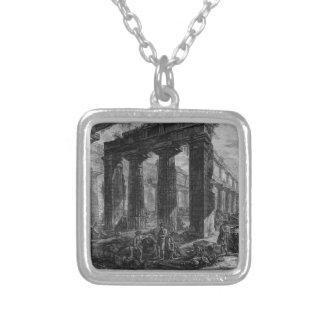Inside the same temple Giovanni Battista Piranesi Silver Plated Necklace