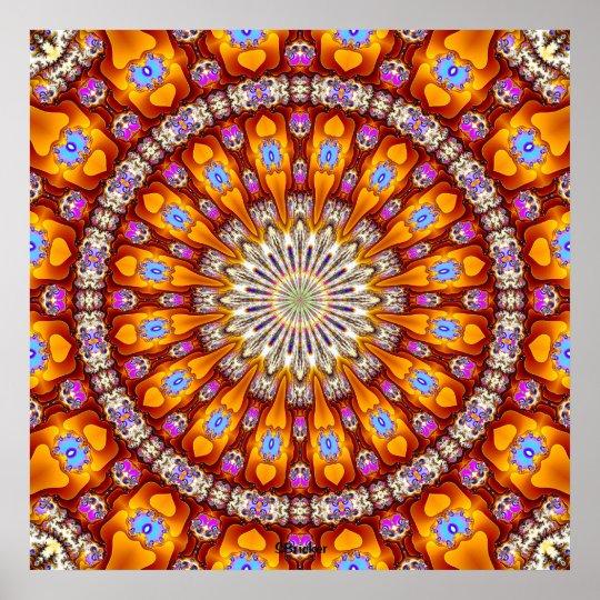 'Inside the Singularity Mandala' Poster