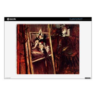 "Inside the studio of the painter- Giovanni Boldini Skin For 14"" Laptop"