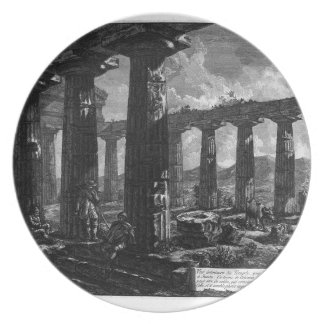 Inside the Temple by Giovanni Battista Piranesi Plate