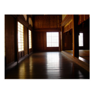 Inside the temple postcard