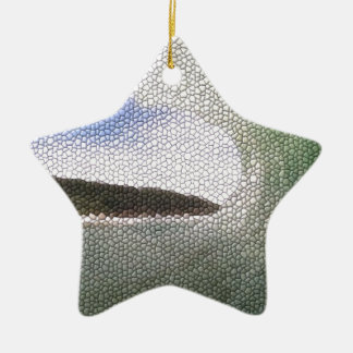 Inside The Tube. A Surfers View. Tiled look Double-Sided Star Ceramic Christmas Ornament