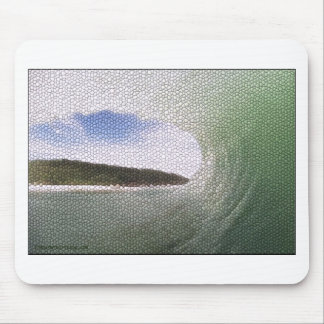 Inside The Tube. A Surfers View. Tiled look Mouse Pad
