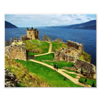 Inside Urquhart Castle Scotland Art Photo
