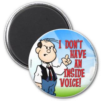 Inside Voice 2 Inch Round Magnet