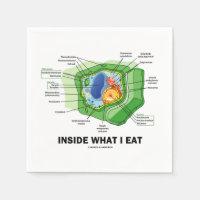 Inside What I Eat (Plant Cell Biology Vegetarian) Standard Cocktail Napkin