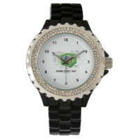 Inside What I Eat (Plant Cell Biology Vegetarian) Wristwatch
