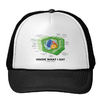 Inside What I Eat (Plant Cell Vegetarian Humor) Hats
