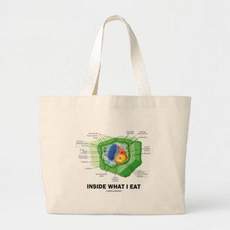 Inside What I Eat (Plant Cell Vegetarian Humor) Large Tote Bag