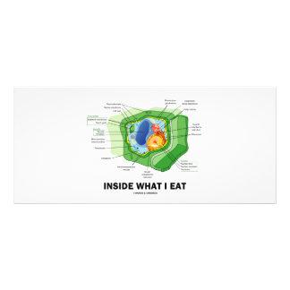 Inside What I Eat (Plant Cell Vegetarian Humor) Rack Card