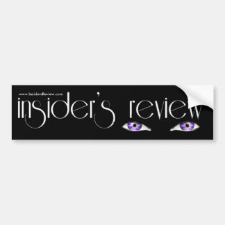 Insider's Review Logoed Merchandise Car Bumper Sticker