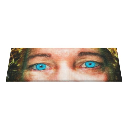 """Insight"" Beautiful Blue Eyes Fine Art Canvas"