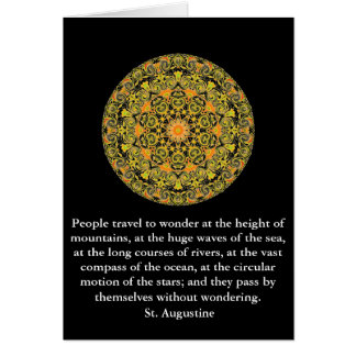 Insightful Quote by St Augustine Card