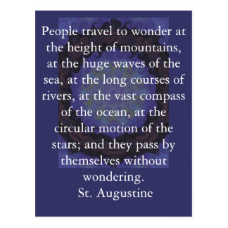 Insightful Quote by St Augustine Postcards