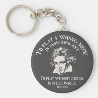 Insignficant v. Inexcusable Basic Round Button Keychain