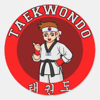 insignia 1 del individuo del Taekwondo Etiqueta Redonda