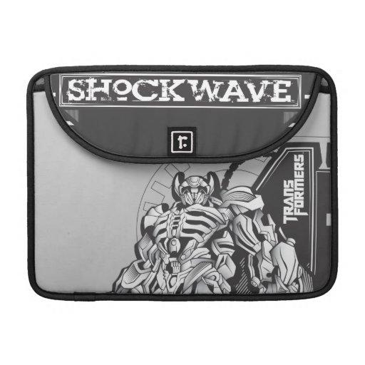 Insignia 1 del metal de la onda de choque fundas para macbooks
