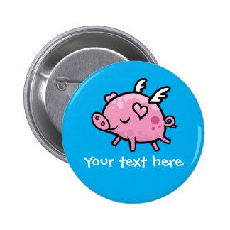 Insignia adaptable del botón del cerdo del vuelo pin
