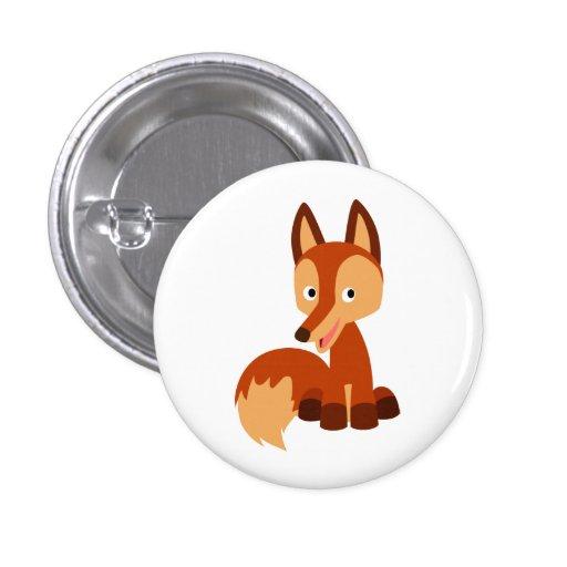 Insignia astuta linda del botón del Fox del dibujo Pin