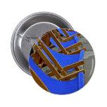 Insignia azul del botón de la silla de cubierta pins