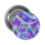 Insignia azul del botón de los árboles del inviern pins