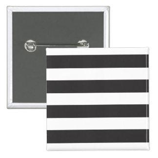 Insignia blanco y negro del botón de las rayas pins