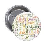 Insignia/botón de motivación de las palabras #2 pin