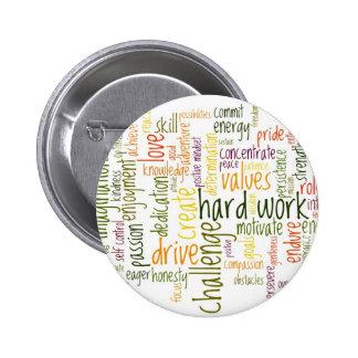 Insignia/botón de motivación de las palabras #2 pin redondo de 2 pulgadas