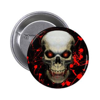 Insignia/botón del cráneo de la salpicadura pins