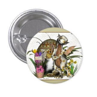 Insignia/botón del dragón del bebé de Pascua Pin Redondo De 1 Pulgada