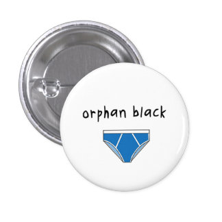 Insignia/botón negros huérfanos - Donnie Pin Redondo De 1 Pulgada