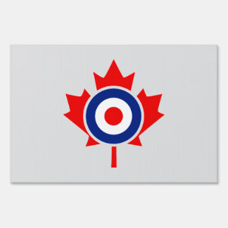 Insignia canadiense de la MOD de Roundel de la Letreros
