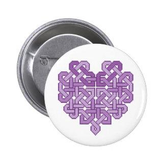Insignia céltica del botón del Pin de la lila del