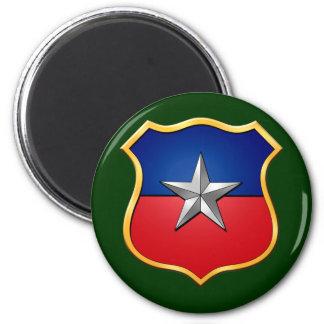 Insignia chilena del escudo de la bandera del escu imán redondo 5 cm