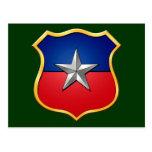 Insignia chilena del escudo de la bandera del tarjetas postales