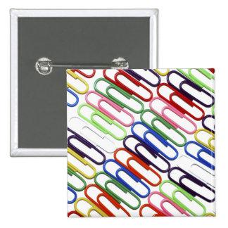 Insignia coloreada del botón de los Paperclips Pins