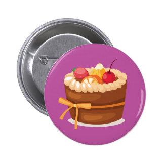 Insignia con sabor a fruta del botón de la torta pin redondo de 2 pulgadas