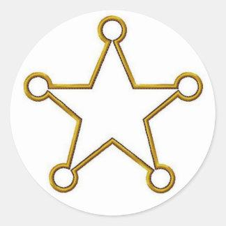 Insignia conocida de estrella del sheriff pegatinas