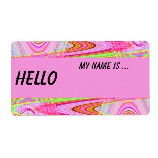 insignia conocida de la onda rosada etiqueta de envío