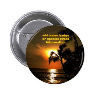 Insignia conocida tropical de Luau Pin Redondo 5 Cm