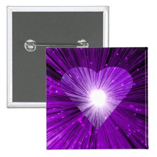 Insignia cuadrada del botón de Purple Heart Pin Cuadrado