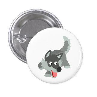 Insignia curiosa linda del botón del lobo del dibu pin