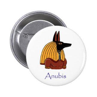 Insignia de Anubis Pin Redondo De 2 Pulgadas
