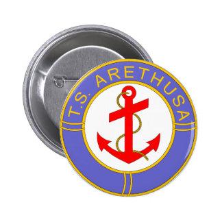 Insignia de Arethusa de los TS Pin Redondo 5 Cm