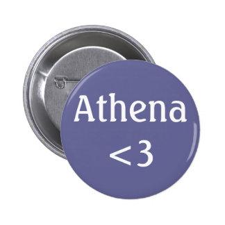 Insignia de Athena <3 Pin Redondo 5 Cm
