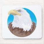 Insignia de Eagle calvo Tapetes De Raton