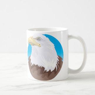 Insignia de Eagle calvo Tazas
