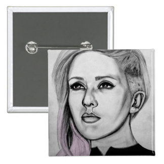 Insignia de Ellie Goulding Pin Cuadrada 5 Cm