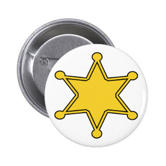 Insignia de encargo del sheriff - diseñe sus los p pin redondo de 2 pulgadas